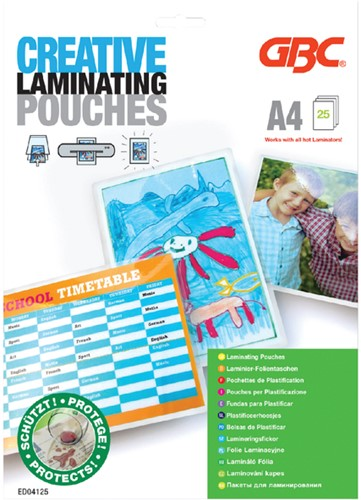 Lamineerhoes 216x303mm 2x125mic GBC Creative A4 ds/25