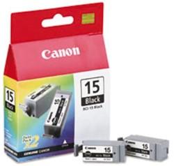 Inktcartridge Canon BCI-15BK zwart ds/2