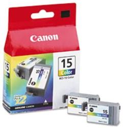Inktcartridge Canon BCI-15C kleur ds/2