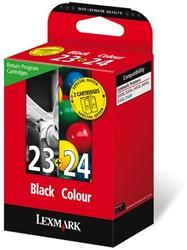 Inktcartridge Lexmark 18C1419E (23+24) zwart/kleur