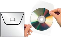 CD-hoezen met klep zelfkl. ds/100