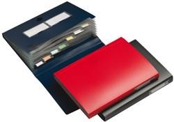 Documentmap Expanding File 7-tabs bordo