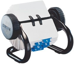 Rolodex Mini 44x83mm 250 kaarten zwart