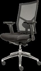 Bureaustoel DEKAS model Edition Netweave, incl. verstelbare armleggers, stof zwart, AKTIE-MODEL
