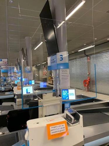 Preventiescherm 100x100cm hangend transparant veiligheidsscherm 3mm acrylaat