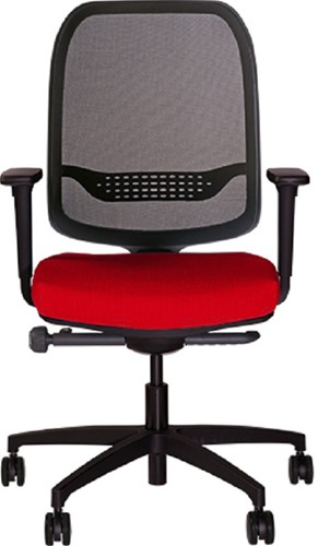 Bureaustoel Be Fine 6402, verstelbare armleggers model 31ZW-2