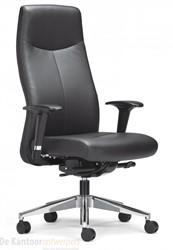 Bureaustoel Rovo XL5910, comfort-synchroonmechaniek, armleggers XL3, alu voetkruis, zwart nappaleder, ACTIEMODEL