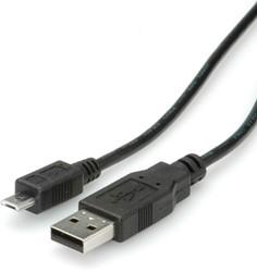 Kabel USB 2.0 micro 0,8 meter zwart