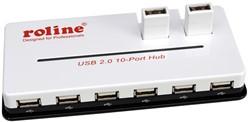 USB hub 2.0 10 poorten zwart
