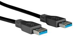 Kabel USB 3.0 A-A  1,8 meter zwart