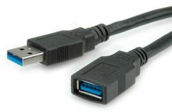Kabel USB 3.0 A-A verleng  0,8 meter zwart