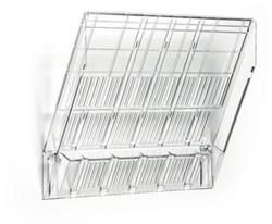 Folderhouder Flexiboxx A4 liggend transparant