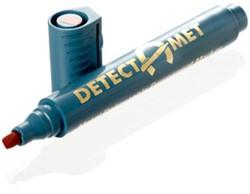 Detecteerbare permanente marker, ronde punt, zwarte inkt