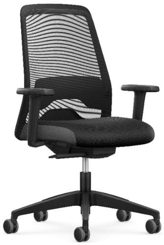 Bureaustoel Every EV25R inclusief zitdiepteverstelling, lenden- steun en 2D-verstelbare armleggers