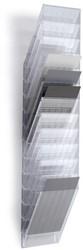 Folderhouder Flexiboxx A4 staand transparant set/12  incl. afdekplaat