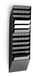 Folderhouder Flexiboxx A4 liggend zwart set/12  incl. afdekplaat