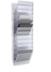 Folderhouder Flexiboxx A4 liggend transparant set/12  incl. afdekplaat