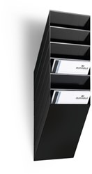 Folderhouder Flexiboxx A4 staand zwart set/6 incl. afdekplaat