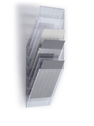 Folderhouder Flexiboxx A4 staand transparant set/6 incl. afdekplaat