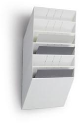 Folderhouder Flexiboxx A4 liggend wit set/6  incl. afdekplaat