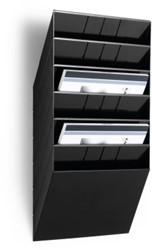 Folderhouder Flexiboxx A4 liggend zwart set/6  incl. afdekplaat