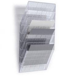 Folderhouder Flexiboxx A4 liggend transparant set/6 incl. afdekplaat