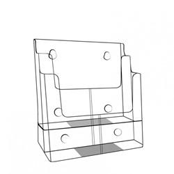 Folderhouder A4 2-vaks