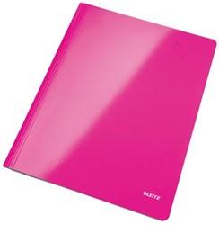 Snelhechtmap Leitz WOW A4 roze pk/10
