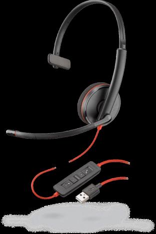 Headset Plantronics USB-A C3210 black wire
