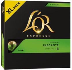 Koffie Douwe Egberts L'OR Espresso Lungo Elegante XL ds/20