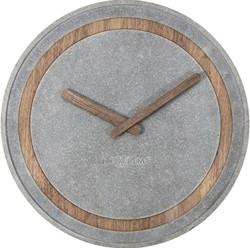 Wandklok 395mm NeXtime 'Concreto'