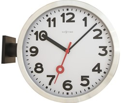 Wandklok 380mm NeXtime 'Station Double' cijfers