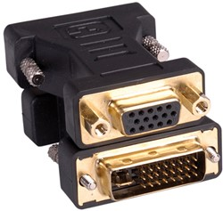 Adapter DVI-I male naar VGA female