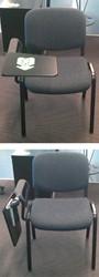 Conferentiestoel met schrijftableau
