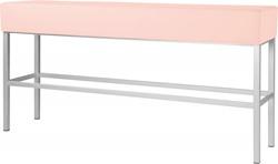 Bank Toto, 4-poots frame, 83cm hoog, dunne zitting, in diverse kleuren