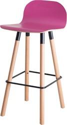 Barstoel Carvi 4-poots, houten frame, laminaatkleur kuip, in diverse uitvoeringen