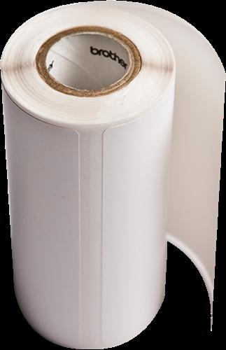 Etiket thermisch 76x44mm voorgestanste rol 335 labels/rol tbv Brother RJ printers