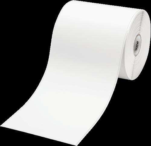 Thermisch papier 102x50mm doorlopende rol 836 labels/rol tbv Brother TD printers