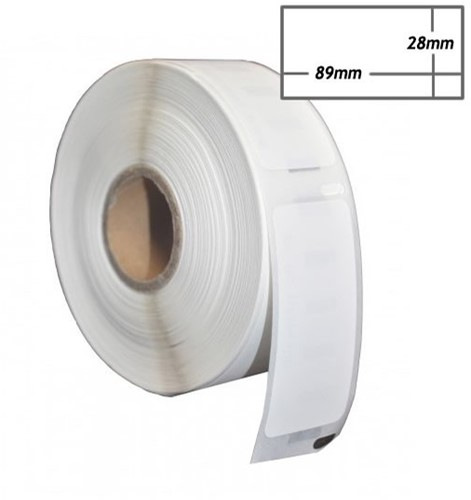 Etiket Dymo compatible  28x89mm adres 12rol/130 99010