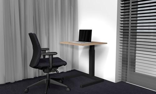 Thuiswerkset basis - bureau hout, bureaustoel en beeldscherm