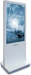 """Touchscreen Focus Kiosk 55"""" LED monitor staand, inclusief inbouw-PC en geluid"""