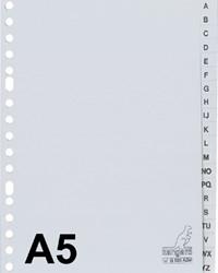 Tabbladen A5 A-Z 17g. grijs pp