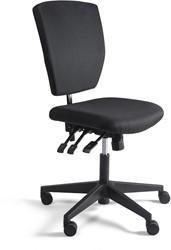Werkstoel 311 lage zitting stof, voetkruis kunststof