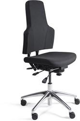 Werkstoel 3241-A lage zitting, voetkruis aluminium