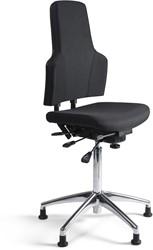 Werkstoel 3241-HA hoge zitting, voetkruis aluminium