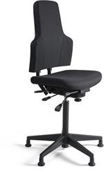 Werkstoel 3241-HN hoge zitting, voetkruis kunststof